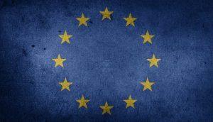 grainy EU flag logo